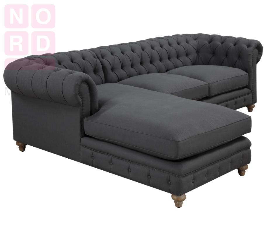 диван угловой честер с оттоманкой купить от производителя в спб по
